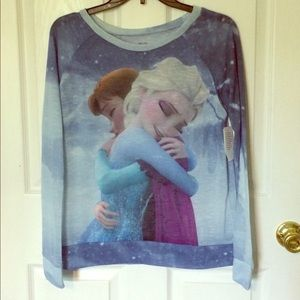 Frozen inspired sheer pullover